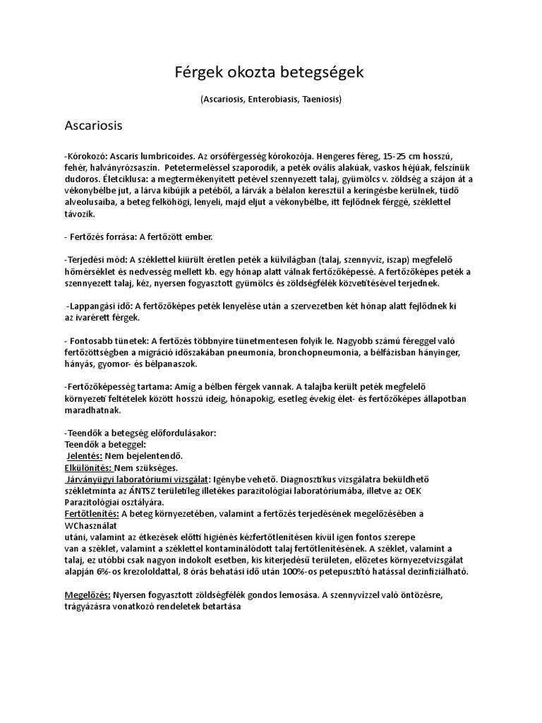 Az enterobiasis megelőzése - A reptilia hemoparasitesei, Az enterobiosis kezelésének megelőzése
