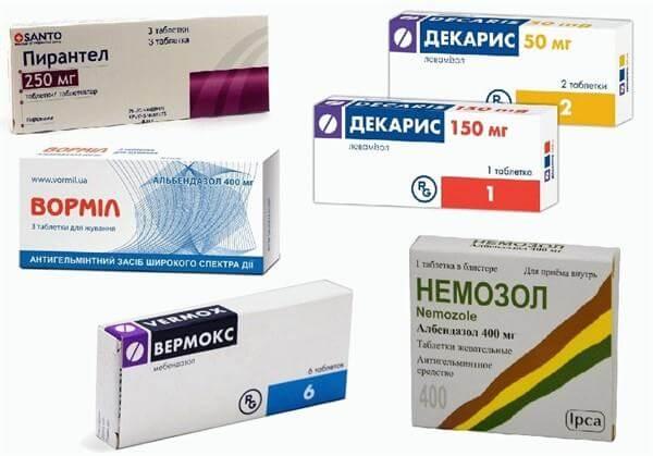 féreg elleni gyógyszerek emberek számára